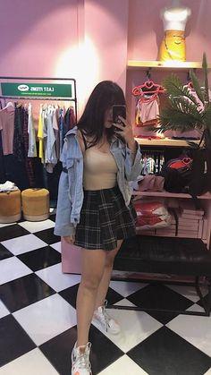 Ulzzang Fashion, Asian Fashion, Boho Fashion, Girl Fashion, Fashion Looks, Fashion Outfits, Retro Fashion, Retro Outfits, Korean Outfits