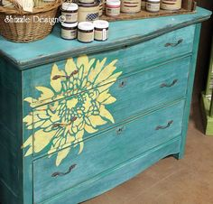 Shizzle design hand painted furniture chalk clay paint ideas color