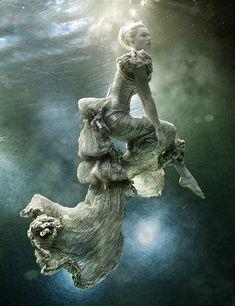 Victorian dress underwater