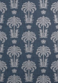 PALM SPRINGS RAFFIA, Navy, T5721, Collection Biscayne from Thibaut