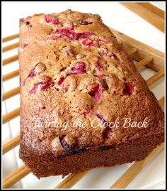 Whole Wheat Cranberry Bread #Recipe - Turning the Clock Back