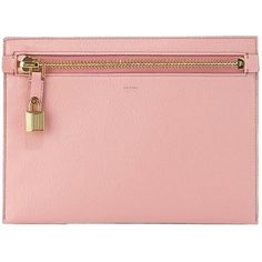 Pre-owned Pink Calfskin Tom Ford Clutch (6.776.355 IDR) ❤ liked on Polyvore