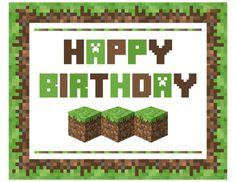 Minecraft Birthday Card Printable Fresh Free Minecraft Party Printables From Printabelle Happy Birthday Printable, Birthday Card Template, Happy Birthday Cards, Minecraft Birthday Card, Minecraft Sign, Cake Minecraft, Minecraft Printable, Minecraft Crafts, Minecraft Buildings