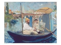 Edouard Manet Claude Monet working on his boat in Argenteuil oil painting for sale; Select your favorite Edouard Manet Claude Monet working on his boat in Argenteuil painting on canvas or frame at discount price. Edouard Manet Paintings, Monet Paintings, Pierre Auguste Renoir, Post Impressionism, Impressionist Paintings, Oil Painting Reproductions, Henri Matisse, Modern Art, Art Gallery