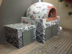 Pizza Oven Mosaics - Mosaic Eternity - Mosaic Artist For Mosaic Work Brick Oven Outdoor, Brick Grill, Patio Grill, Pizza Oven Outdoor, Outdoor Dining, Wood Fired Oven, Wood Fired Pizza, Modern Outdoor Grills, Diy Pizza Oven