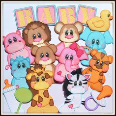 Elite4u Baby Zoo Animal Paper Piecing Set, Scrapbook Page Layout Album