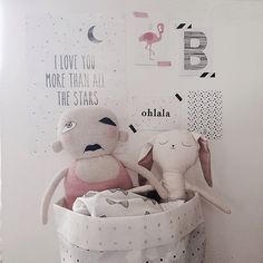 nursery room and kids decoration in pinks, blacks and whites.