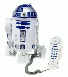 Star Wars R2-D2 phone. (This is somewhat awesome; I just don't recall R2-D2 using any cords! ;-)