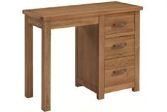 Bron Oak Single Pedestal Dressing Table