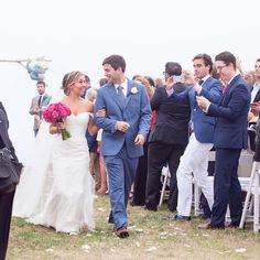 Cape Cod bride wore Kelly Faetanini for her beach wedding. Instagram photo by @dreamlovephoto