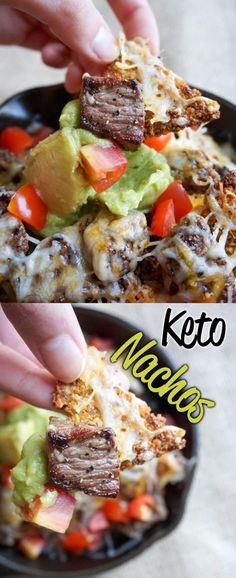 Crunchy Keto Nachos are the perfect canvas to pile toppings on!