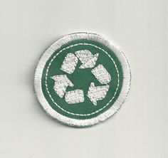 Hey, I found this really awesome Etsy listing at https://www.etsy.com/listing/209394147/2-recycling-merit-badge-patch