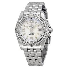 Breitling Galactic 32 Silver Dial Stainless Steel Ladies Watch A7135653-a656ss. => http://www.amazon.com/Breitling-Galactic-Silver-Stainless-A7135653-A656SS/dp/B00MX38H48/watches0906-20/ => Brand, Seller, or Collection Name:Breitling,Part Number:A7135653-A656SS,Case material:Stainless Steel,Dial color:Silver,Bezel material:Fixed Stainless Steel set with Diamonds,Warranty type:Contact seller of record