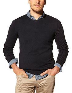 Celio - Verner - Pull - Uni - Col rond - Manches longues - Homme - Rouge  (Heather Burgundy 02) - FR   X-Large (Taille fabricant   XL)  Amazon.fr   Vêtements ... 8392c37d163