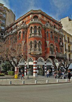 """Τhe """"Red House"""" in Thessaloniki, Macedonia, Greece Albania, Myconos, Macedonia Greece, Places In Greece, Greek Islands, Greece Travel, Bulgaria, Beautiful Places, Places To Visit"""