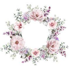 Art, flowers, printable, cute, illustration Art Floral, Deco Floral, Motif Floral, Floral Border, Flower Frame, Flower Crown, Flower Art, Art Flowers, Wreath Watercolor