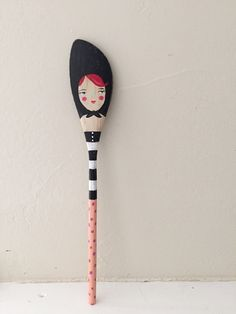 babushka bernice hand painted wooden spoon by noodleandlou