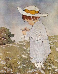 Jessie Willcox Smith (1863 – 1935, American) - She Lufs Me, She Lufs Me Not
