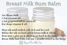 Breast milk bum balm
