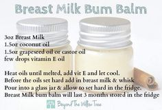 Breastmilk nappy balm