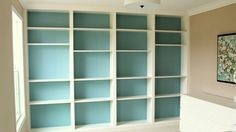 DIY Built-in Ikea Bookcases  http://lifehacker.com/5928940/diy-built+in-ikea-bookcases