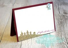 Teneale Williams    INKspired Sketch 22 #INK022   Jingle All the Way and Sleigh Ride Edgelits  from Stampin' Up! Holiday Catalogue