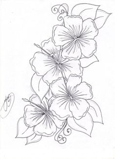 Beautiful Flower Coloring Pages Free | Hibiscus Flower Coloring Pages free download. Get this beautiful ...                                                                                                                                                     Más