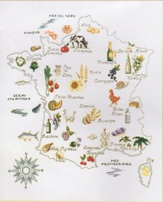 Culinary France Map 1/7