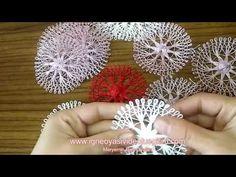 Aparat ile Yapılan İğne Oyası Modeli. 40 iğne nasıl yapılır ? (anlatımlı ) how to make needle lace ? - YouTube