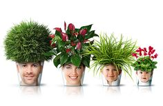Family Photo Flower Pots