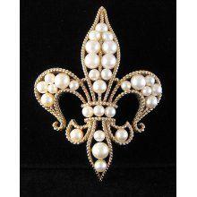 Trifari costume jewelry pin