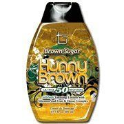 Hunny Brown Ultra 50xBronzer Fruit Based w/Silicones 13.5 oz by Brown Sugar. $16.99. Brown Sugar Tan Incorporated Hunny Brown  Ultra 50 Brozners Tanning Lotion. Sweet ingredients make for dark tans.  This fruit extract based bronzer no exception. The recipe is a thing of beauty.  Ultra 50 Bronzing combined with SilkSoft silicones for a tan that feels as wonderful as it looks.  The fruit base conditions skin for a vibrant color.  Were sweet on you, and we're sure the feel...