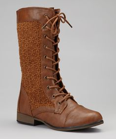 Tan Chapter Lace-Up Boot