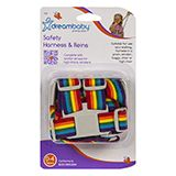 Safety Harness & Reins Rainbow Colours