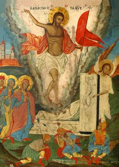 """theraccolta: """"But now Christ is risen from the dead, the first-fruits of them that sleep. Byzantine Icons, Byzantine Art, Christ Is Risen, Jesus Christ, Transfiguration Of Jesus, Jesus In The Temple, Assumption Of Mary, Religion Catolica, Christian World"""