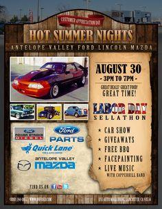 Hot Summer Nights: Customer Appreciation Day! 8/30/14