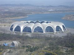rungrado may day stadium In North Korea currently the biggest stadium in the world in terms of capacity. Soccer Stadium, Football Stadiums, Mexican Soccer League, North Korea, World, Building, Travel, Interior, Places