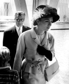 H.I.M. Emperor Mohammad Reza Pahlavi of Iran and H.M. Queen Farah of Iran, later Empress of Iran