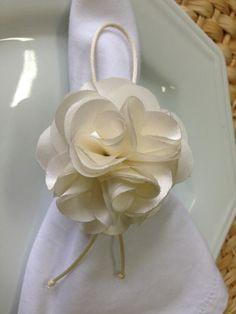 Flor de tecido Off White