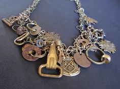 Cool jewelry made from found objects. (And my aunt made it! Rad!)