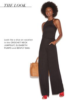 fa60671d7830 Look like a glam island girl at your next event in the Crochet Neck Jumpsuit.  ShoeDazzle