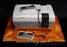 Nintendo grooms cake by Crazy Cake - Cakedesigner57, via Flickr