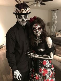 halloweencostume heatherrichmond couplescostume bestcostumes facepainting dayofthedead halloween creation costume dead 2017 day the of my Day of the Dead 2017 Halloween Costume my creation You can find Sugar skull costume and more on our website Couples Halloween, Unique Couple Halloween Costumes, Cute Couple Halloween Costumes, Best Couples Costumes, Theme Halloween, Halloween Costume Contest, Halloween Fashion, Halloween 2019, Halloween Outfits