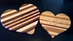 Bride's gifts to her parents and future in-laws.  Pretty cool!!  #customengravecuttimgboard http://www.maccuttingboards.com