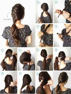 15 Easy to Do Everyday Hairstyle Ideas for Short Medium Long Everyday Hairstyles, Cute Hairstyles, Hairstyle Ideas, Medium Long, Rapunzel, Hair Inspiration, Braids, Classy, Hair Styles