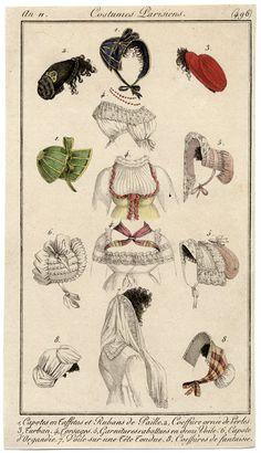 An 11 Costume Parisien plate 496 capotes etc