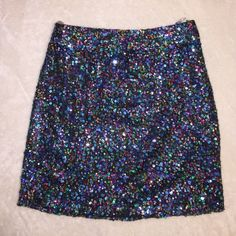 Sequined skirt Multicolored sequined skirt. Worn a couple times. Good condition. Side zipper. Charlotte Russe Skirts Mini