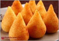 Coxinha de Batata Doce Sem Glúten, Aprenda com essa receita como fazer facilmente em sua casa essa delicia Saudável, deliciosa e muito pratico.