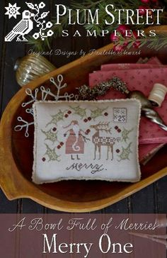 PREORDER PLUM Street Samplers: Merry One by NeedleCaseGoodies