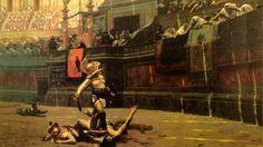 Artistic Painting  Rome Arena Gladiator Artistic Wallpaper